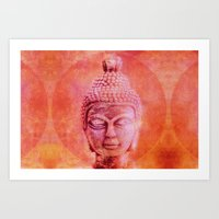 buddha Art Prints featuring Buddha by LebensART