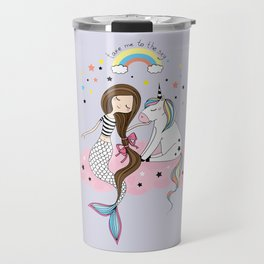 Mermaid & Unicorn Travel Mug