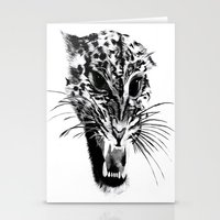 snow leopard Stationery Cards featuring Snow Leopard by pbnevins