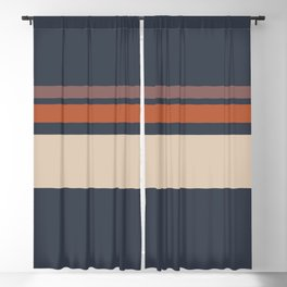 A well-made association of Beige, Charcoal Grey, Brown (Crayola) and Dark Taupe stripes. Blackout Curtain