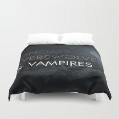 Ghosts, Werewolves & Vampires Duvet Cover