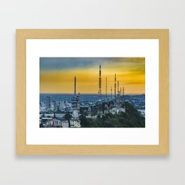 Guayaquil Aerial View from Window Plane Framed Art Print