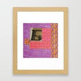 Alpha-Numero: E Framed Art Print