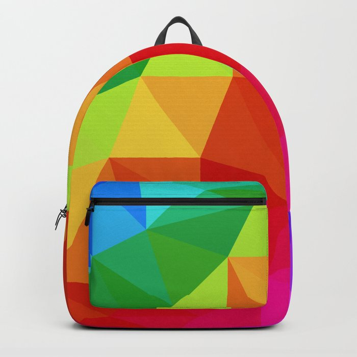 Rainbow Low Poly Backpack