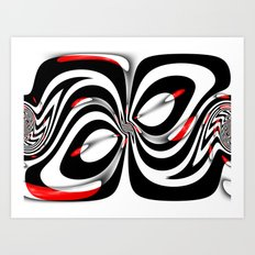 Zebra Look Art Print