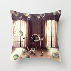 LIBRA from the dancing zodiac Throw Pillow