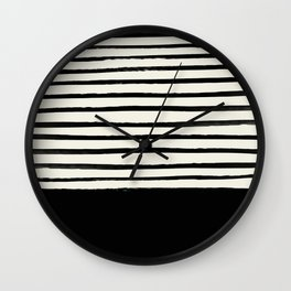 Black x Stripes Wall Clock