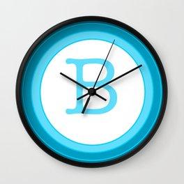 Blue letter B Wall Clock