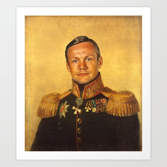 Neil Armstrong - replaceface Art Print