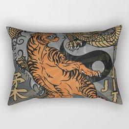 Jiu Jitsu Tiger and Dragon Art, Yin Yang, Martial Arts, Bjj Mma, Japanese Rectangular Pillow