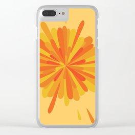 Orange Splatter Clear iPhone Case
