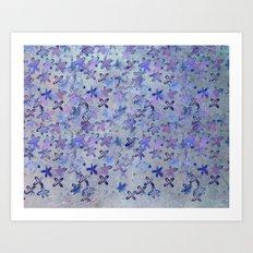 twilight flowers Art Print