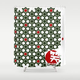 LBH_Green/ Red Shower Curtain
