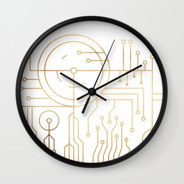Awaited Embrace Wall Clock