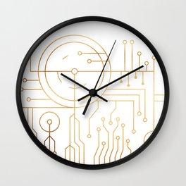 Awaited Embrace Wall Clock