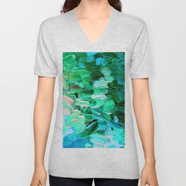 Moon Feathers Unisex V-Neck