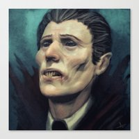 dracula Canvas Prints featuring Dracula by Jorge Jaramillo
