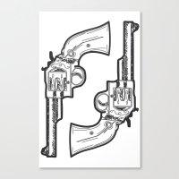 guns Canvas Prints featuring Guns by Dahlia Inspirations