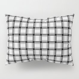 Small Pale Gray Weave Pillow Sham