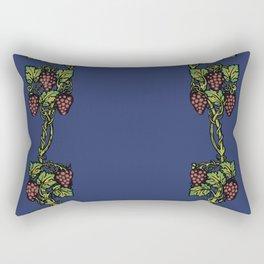 wine floral frame 2 Rectangular Pillow