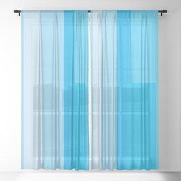 Mystic Blue Sheer Curtain