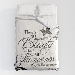 'Strange Skullerflies' -  Quotes - Edgar Allan Poe Comforters