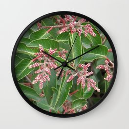 TEXTURES - Manzanita in Drought #1 Wall Clock