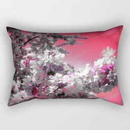 Flowers Purple Fuchsia Hot Pink Rectangular Pillow