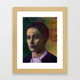 Stieglitz Girl Framed Art Print