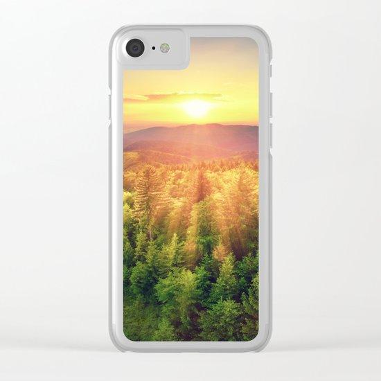 majestic sunrise Clear iPhone Case