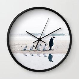 Penguin Family Wall Clock
