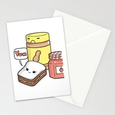 Friends Go Better Together 7/7 - Bread, Peanut Butter and Jam Stationery Cards