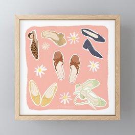 Spring Shoes  Framed Mini Art Print