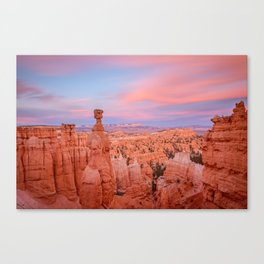 BRYCE CANYON SUNSET - UTAH NATIONAL PARK - LANDSCAPE NATURE PHOTOGRAPHY Canvas Print