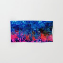 Bright Blues and Pinks Pattern Abstract Hand & Bath Towel