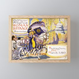 1913 Women's rights march Washington Framed Mini Art Print