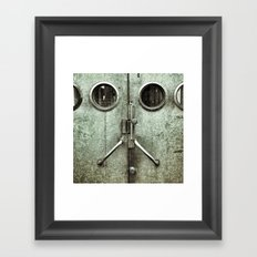 'DOORFACE' Framed Art Print