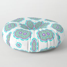 Circle Spinner in Aqua Deeps Floor Pillow