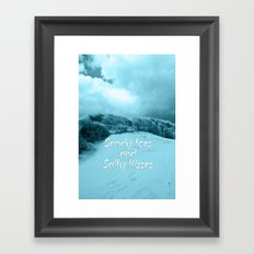 Sand and Kisses Framed Art Print