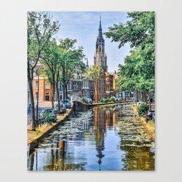 Postcards of Holland Canvas Print
