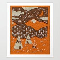 Orange mountain county Art Print