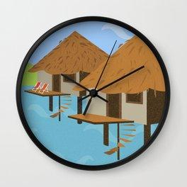 Hut hut Wall Clock