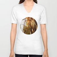 birch V-neck T-shirts featuring Birch by TakaTuka Photo