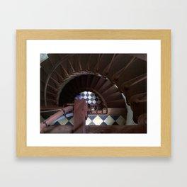 Spiral Down at Cape Hatteras Lighthouse Framed Art Print