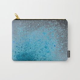 Blue and Black Spray Paint Splatter Carry-All Pouch