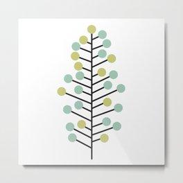 Holiday Mid Century Modern Christmas Tree Metal Print