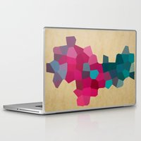 crystals Laptop & iPad Skins featuring Crystals by Samantha Ranlet