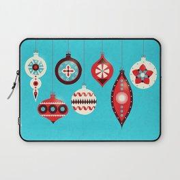Retro Christmas Baubles Laptop Sleeve