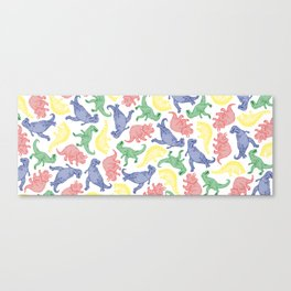 Dinosaurs in Color Canvas Print