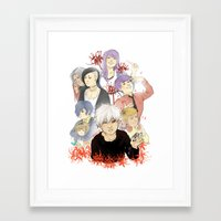 tokyo ghoul Framed Art Prints featuring Tokyo Ghoul by Catriona Laird